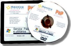 DVD de Service Packs da Thecnica Sistemas