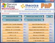 Programa gerenciador do DVD de service packs e utilitários